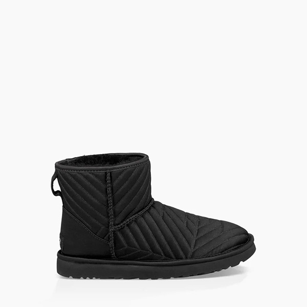 Classic Mini Quilted Satin Boot Black