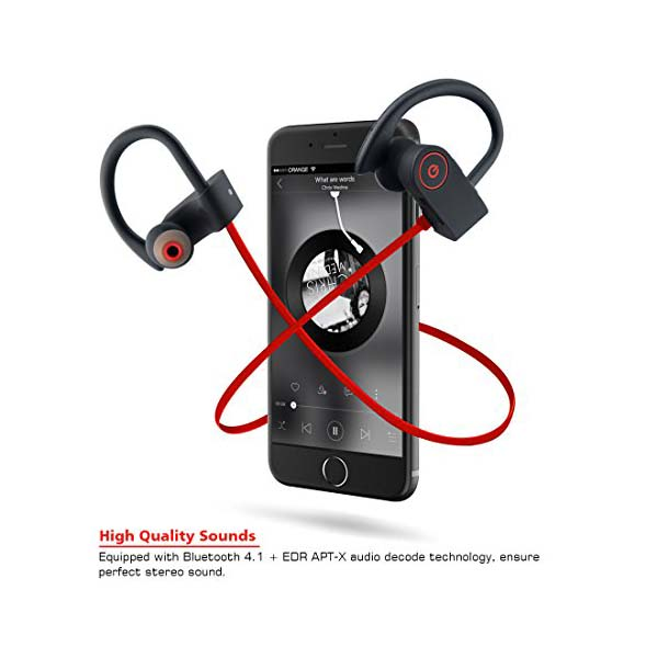 Bluetooth Headphones Small Target Best Wireless Sport Earphones W Mic Ipx7 Waterproof Stable Fit In Ear Earbuds Noise Isolating Stereo Headset 9 Hour Working Time For Running Workout Gym Upgraded